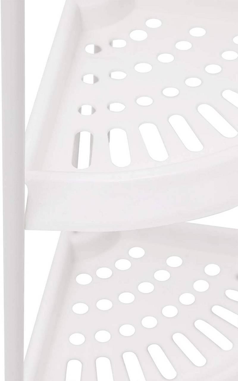Eckregal Duschregal mit 20 Ablage aus Kunststoff Eisen Weiß