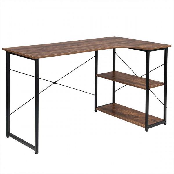 Geräumiger Arbeitstisch mit zwei Ablagen, vintage