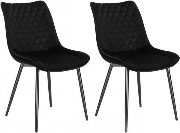 2 pieces velvet kitchen chairs - Model Alois