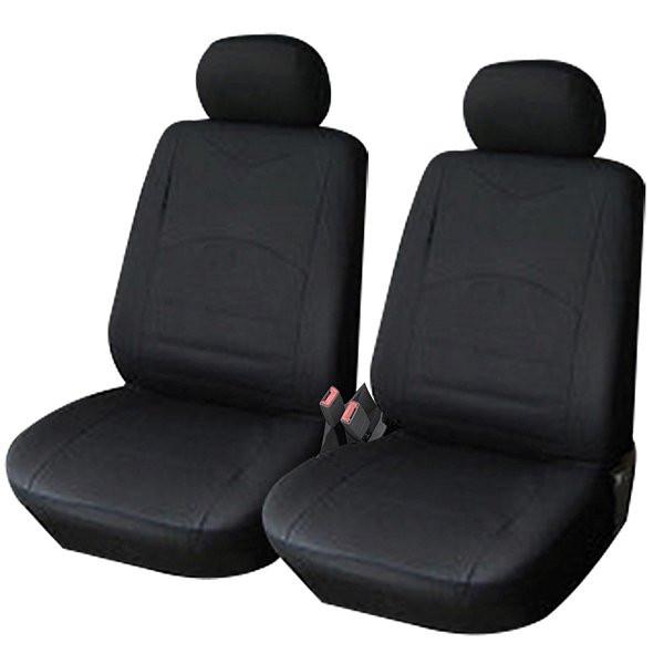 Auto Sitzbezüge Schwarz (2er Set)