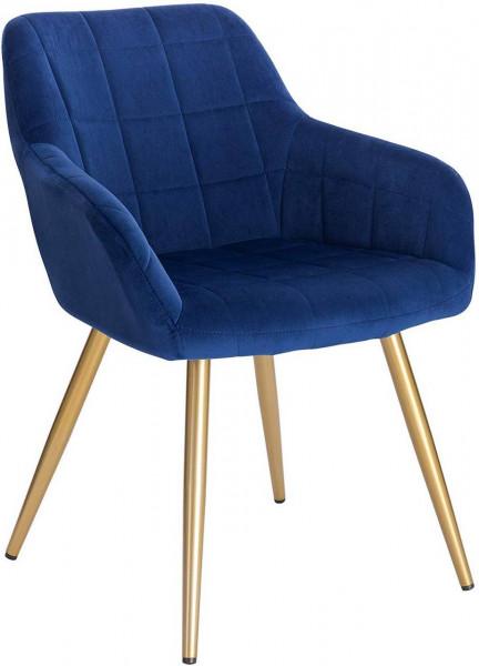 Velvet dining chair with golden legs