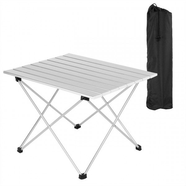 Aluminum camping table with carrying case, 56 * 46 * 40 cm