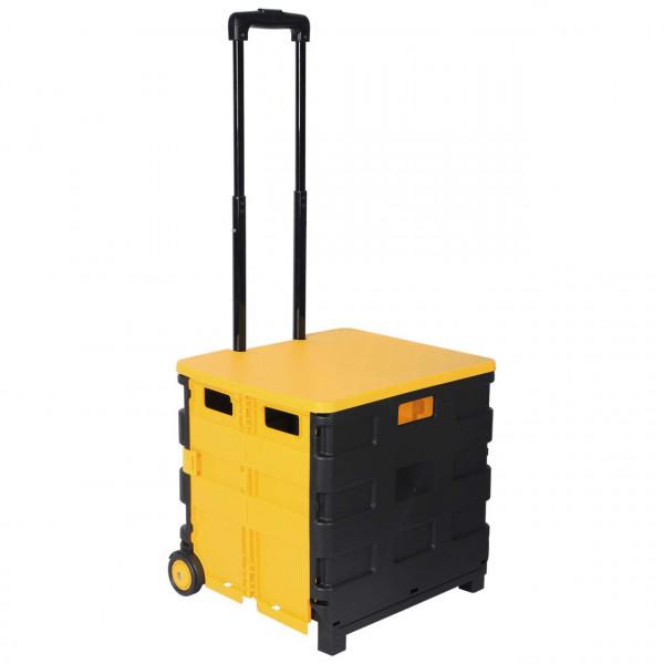 Einkaufstrolley Einkaufswagen mit Deckel Gelb