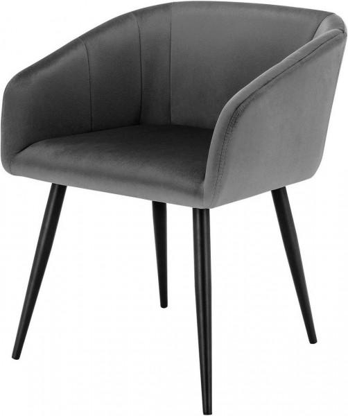 Küchenstuhl aus Samt mit Armlehne, Retro Design