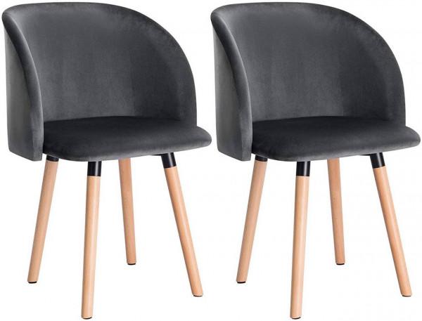 Esszimmerstühle aus Samt Modell Ann