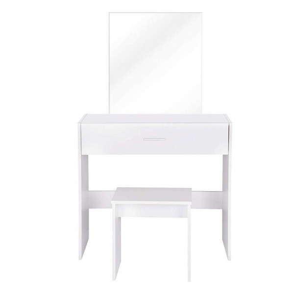 Dressing table with mirror, stool and drawer