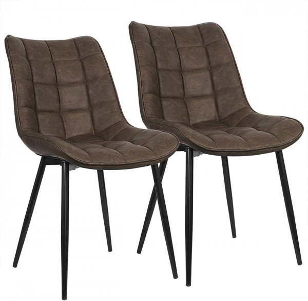 2 pieces faux leather kitchen chairs - Model Elif