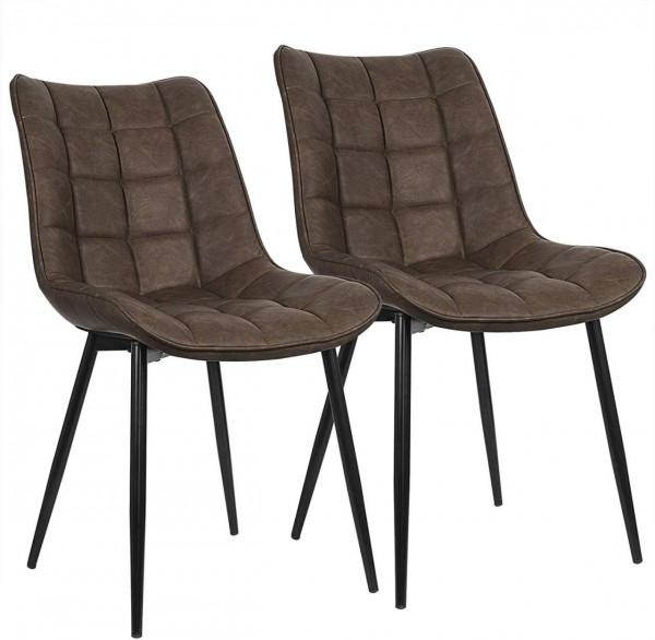 2er-Set Küchenstühle aus Kunstleder Elif