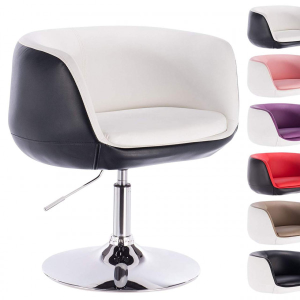 Leatherette bar chair, bicoloured - model Kevin