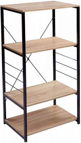 Küchenregal Standregal aus Holz und Stahl 60x40x123,5cm, eiche hell
