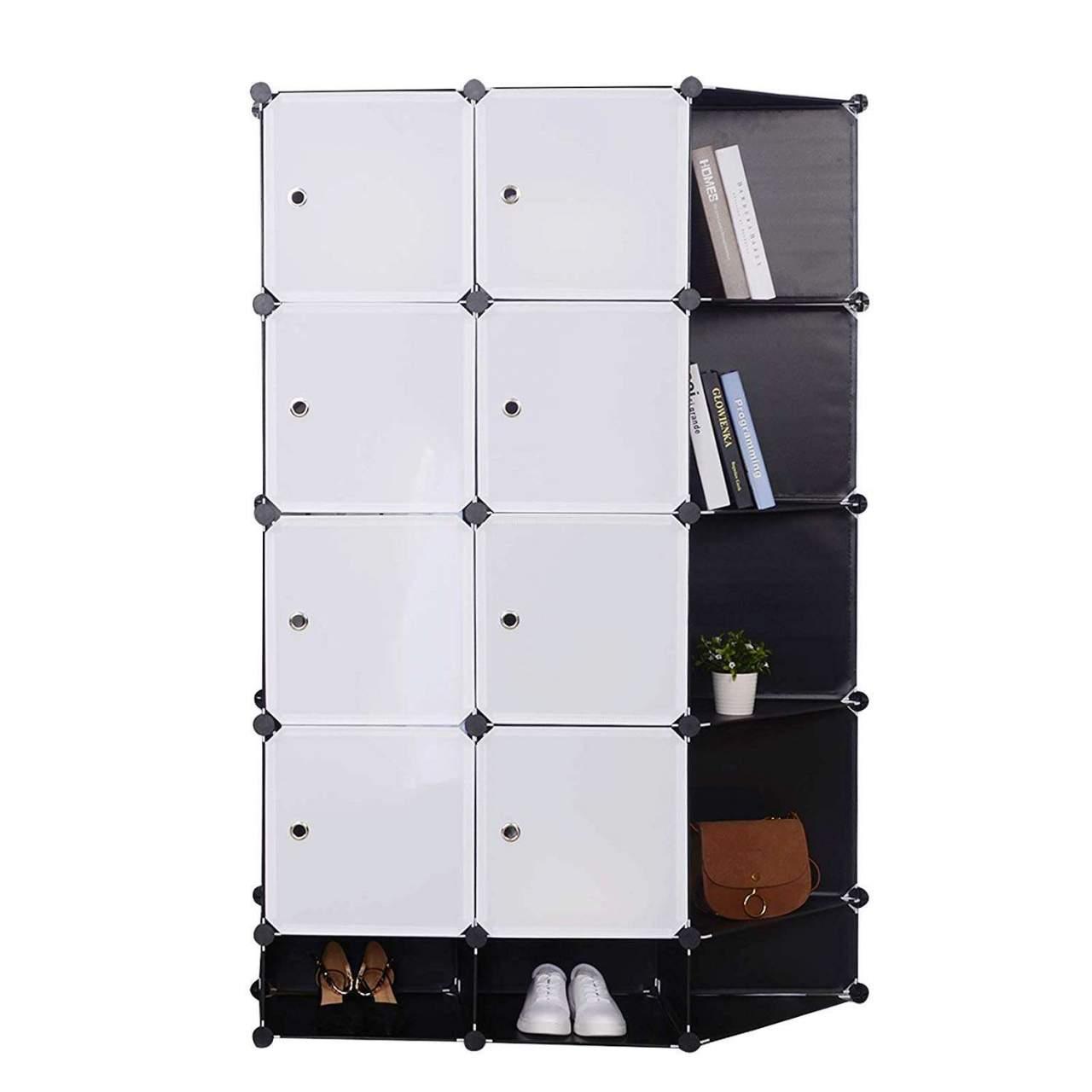 Kleiderschrank Garderobenschrank Steckregalsystem Bucherregal