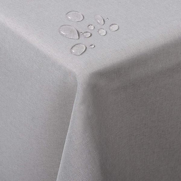 Tischdecke Tischtuch waschbar hellgrau