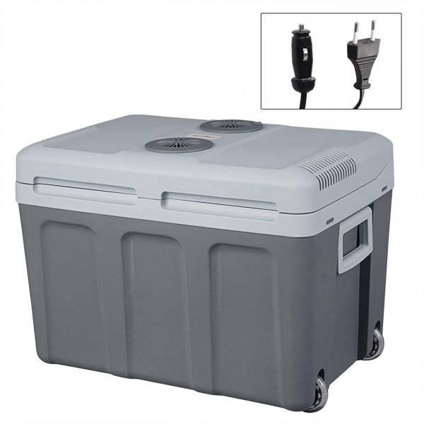 Kühlbox Isolierbox XL mit Rollen Warm-Kalt 40L für Auto & Camping A++