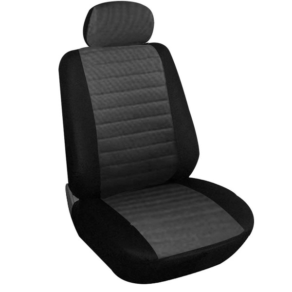 Car Van Seat Covers Front Pair Grey and black Universial for Cars Vans and MPVs