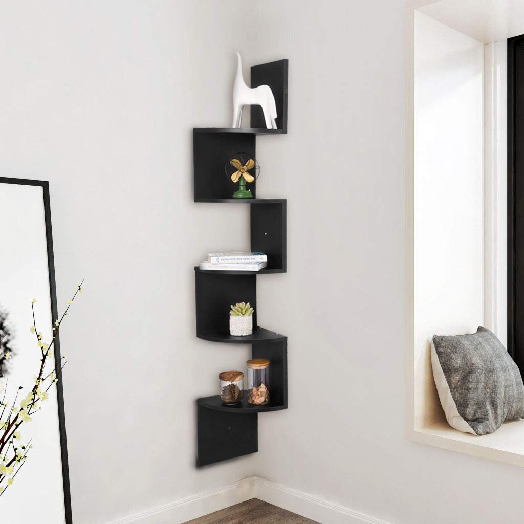 Wall To Wall Shelves floating shelves white wooden corner shelves storage display shelf s shaped