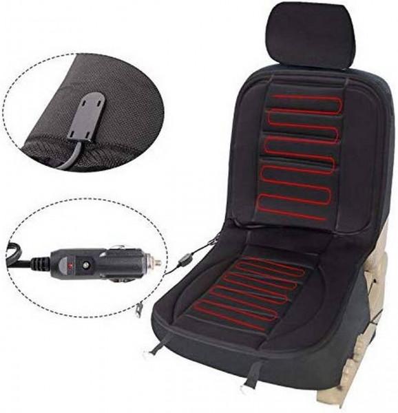 Sitzheizung Auto für Sitz & Rücken Überhitzungsschutz 12V Schwarz