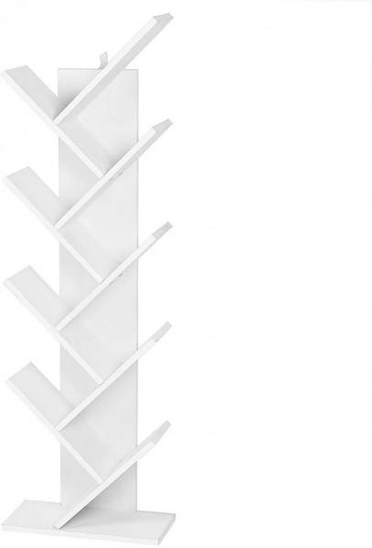Bücherregal Standregal Mit 8 Ebenen weiß