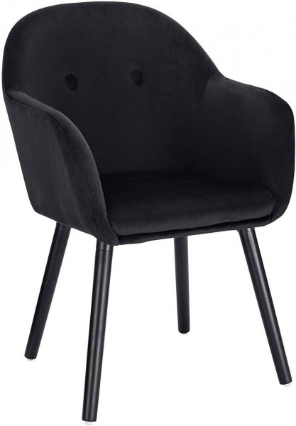 Velvet & wood dining chair - Henny model