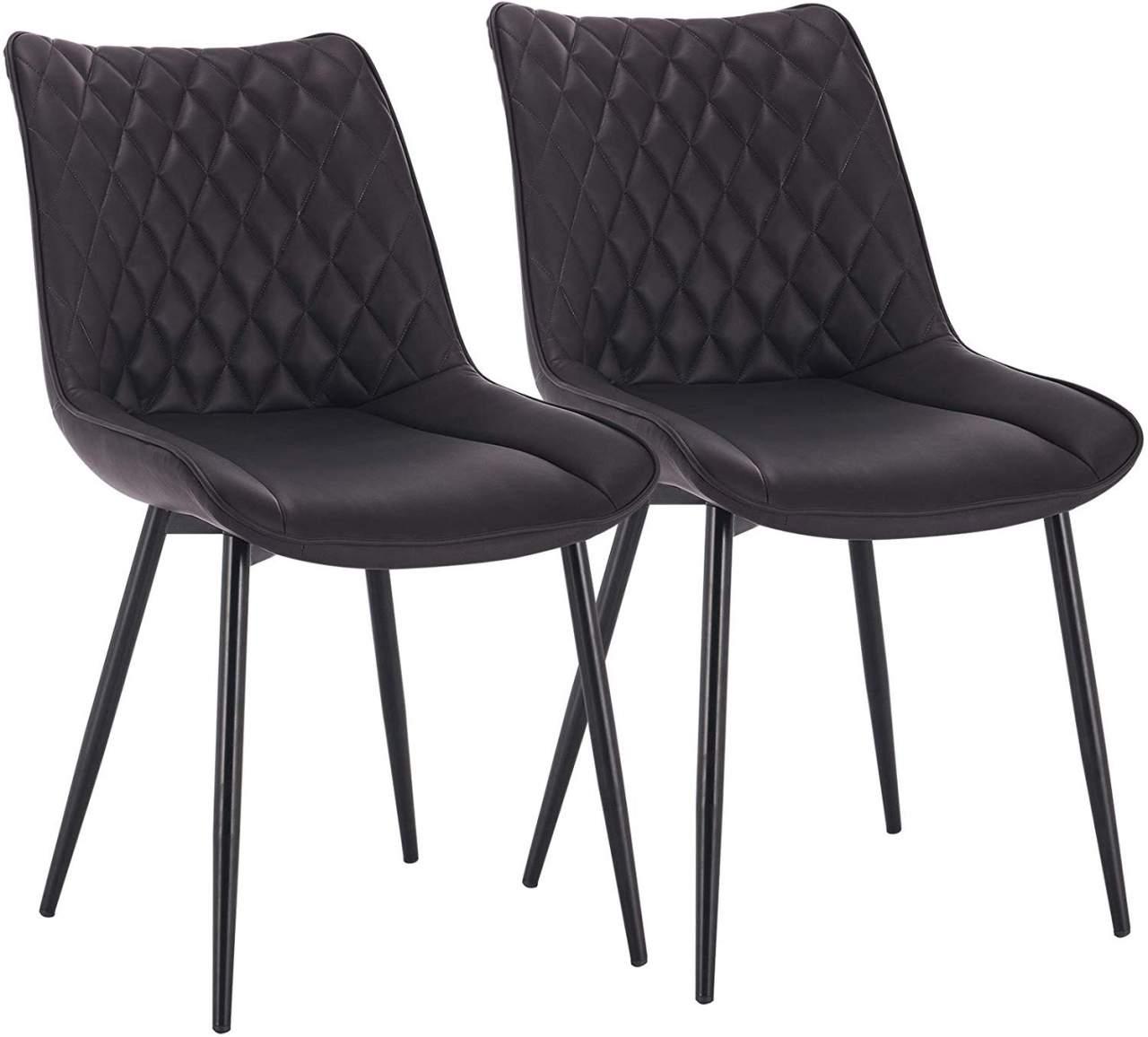 2 Pieces Faux Leather Kitchen Chairs Model Alois Woltu Eu