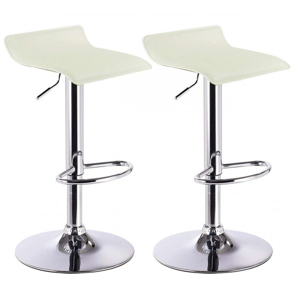 2 x Bar Stools Faux Leather Kitchen Stools Model Celin