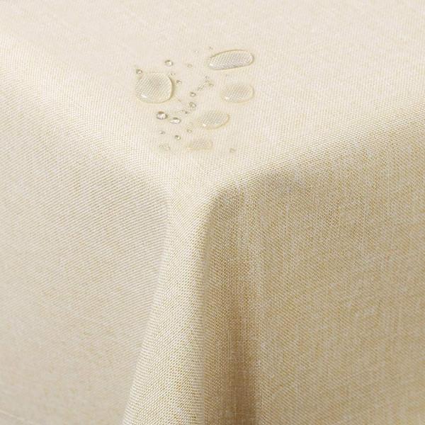 Tischdecke aus Leinen in Champagner