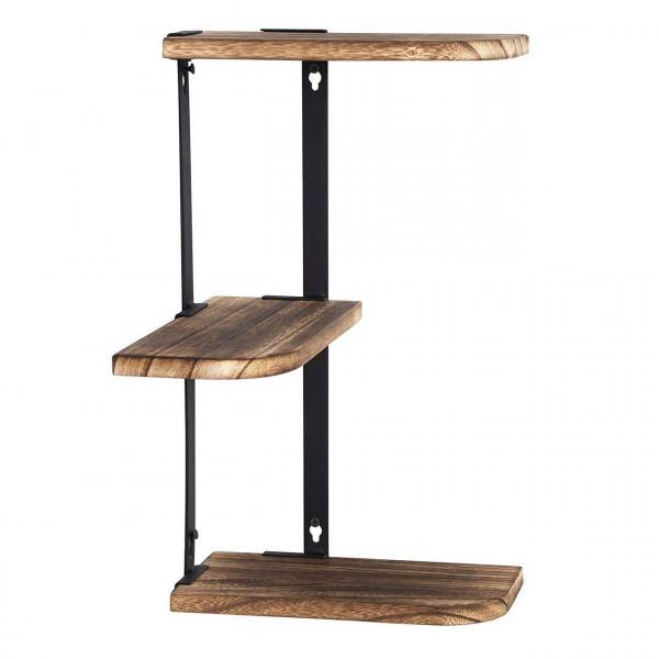 Corner Shelf 3-Tier Wall Mount Rustic Wood Floating Shelves