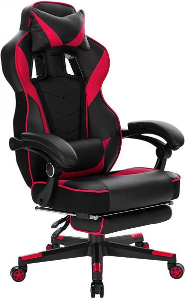 Gaming Stuhl Chefsessel aus Kunstleder Gavin, rot