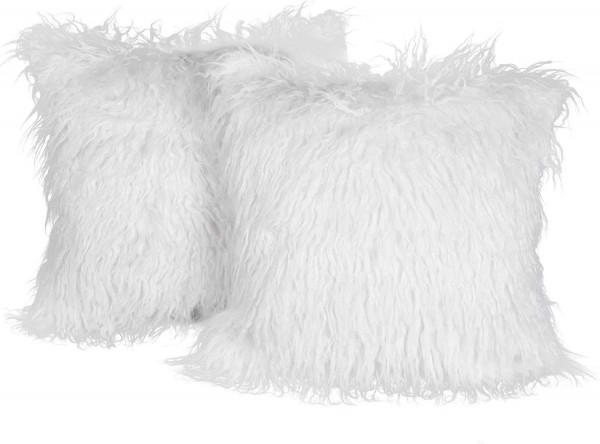 Pillow Cases Cushion Covers Pack 2 Sofa Cushion Cover Beach Wool Look for Sofa