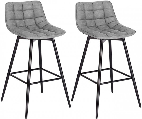 Bar stool with imitation leather cover, model Elif