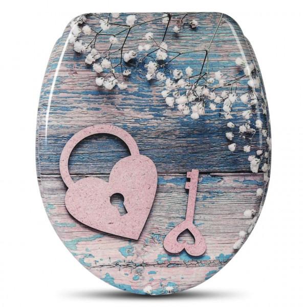 WC-Sitz Duroplast mit Absenkautomatik heart key