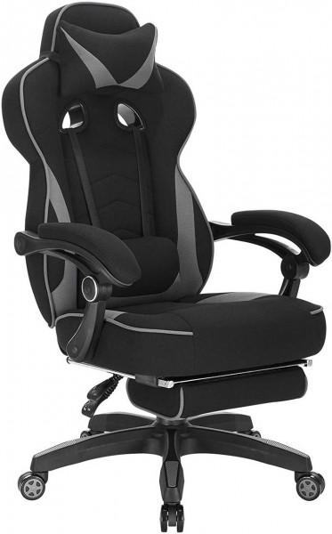 Gaming Stuhl aus Stoff mit Kopfstütze & Lendenkissen BS83