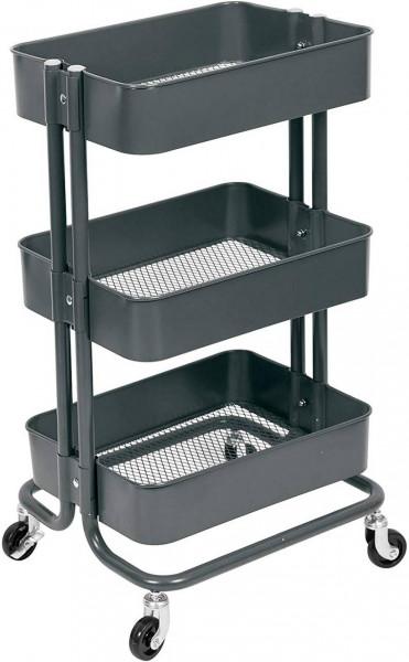 Küchenwagen Rollwagen mit 3 Etagen aus Metall
