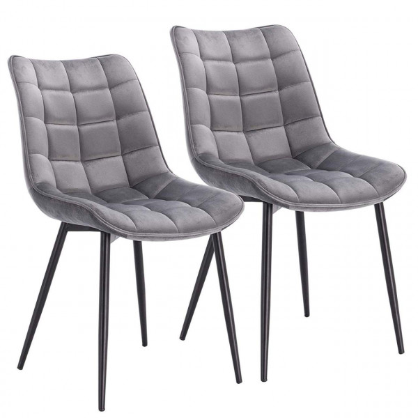 2 pieces velvet kitchen chairs - Model Elif