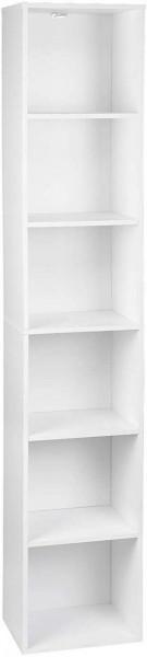 Bücherregal mit 6 Ebenen Modell Kuep weiß