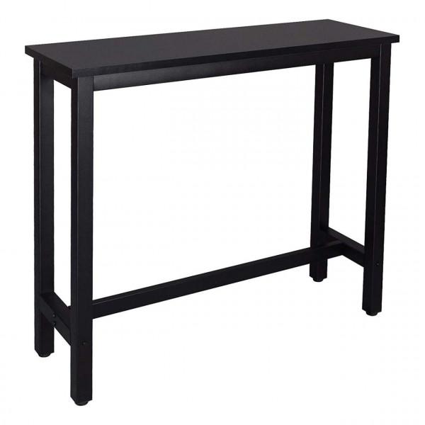 Bartisch Metallgestell Tischplatte aus MDF, schwarz