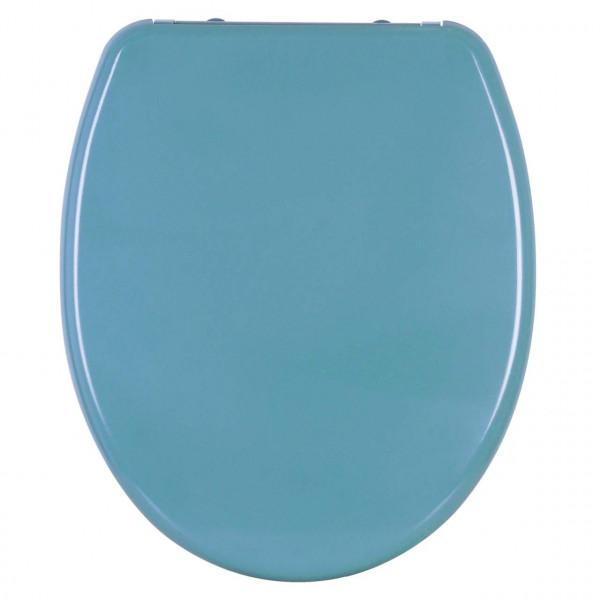WC-Sitz Duroplast Hellblau mit Absenkautomatik