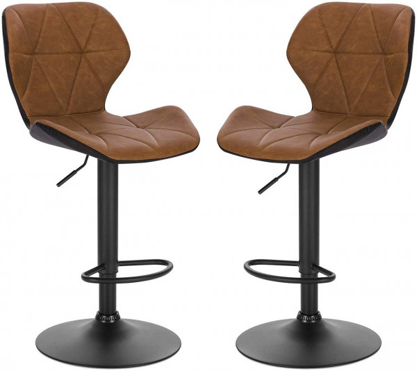 Set of 2 faux leather bar stools - Mery model