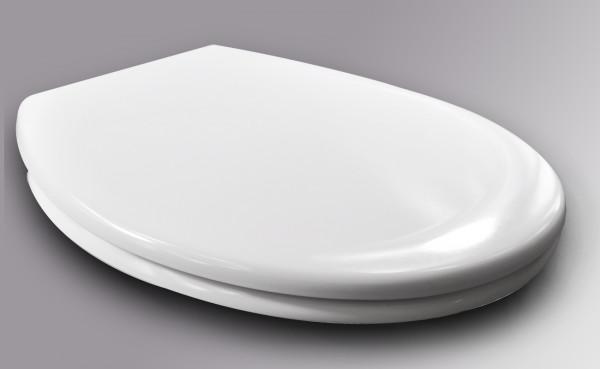 WC-Sitz Kunststoff Weiß mit Absenkautomatik und Schnellbefestigung