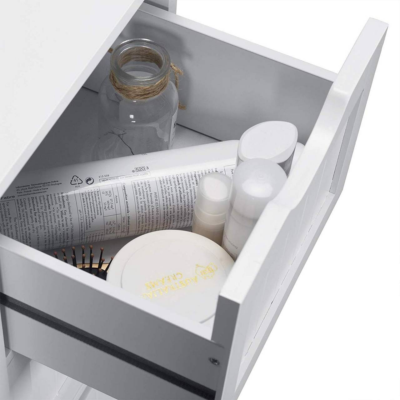 Bathroom Cabinet With 4 Drawers White