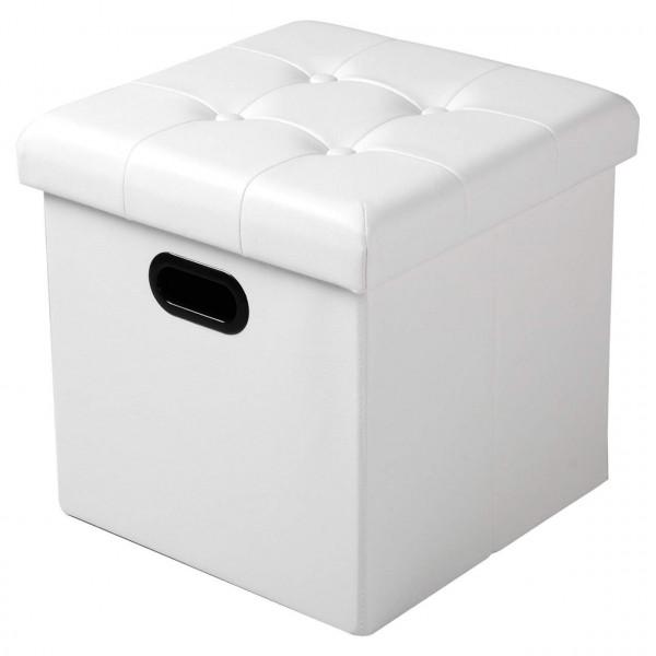 Sitzhocker Sitzwürfel Aufbewahrungsbox aus Kunstleder