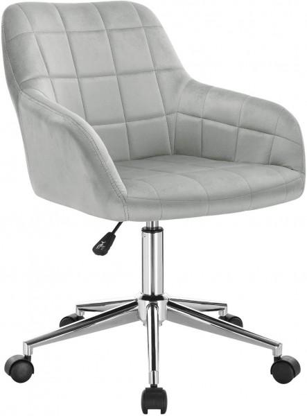 Velvet office stool - model Rita