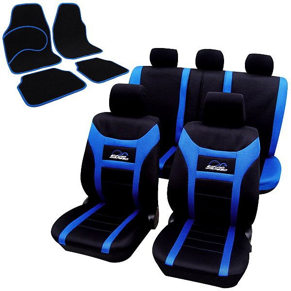Auto Sitzbezüge + Fußmatten Stickerei Super Speed