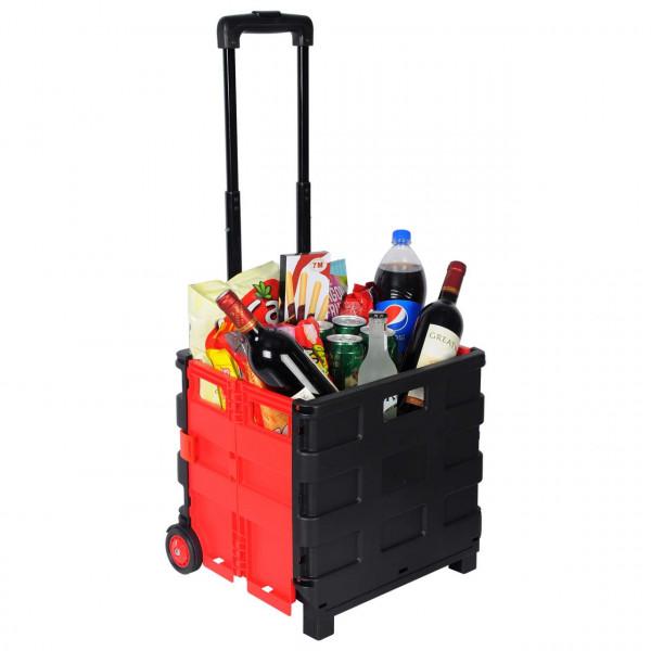 Einkaufstrolley Einkaufswagen gross Rot