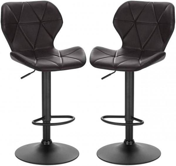 Set of 2 faux leather bar stools - Mery model