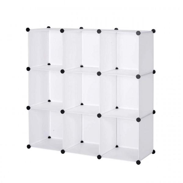 Garderobenschrank ohne Tür Kunststoff Weiß