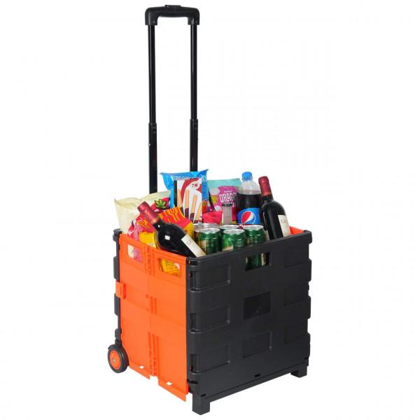 Einkaufstrolley Einkaufswagen gross Orange