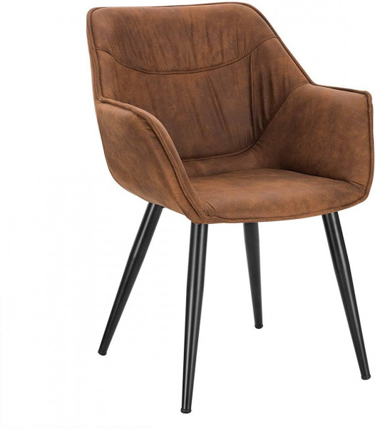 Antique leather look dining chair - Model Antonia