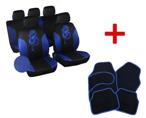 Sitzbezug für PKW ohne Seitenairbag, mit Fußmatten Set 7212_7132