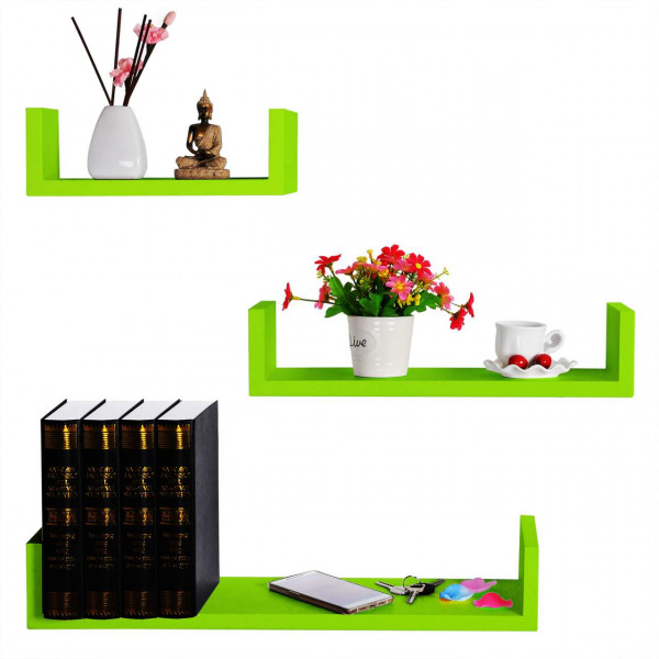 Floating Shelves Set of 3 U Shaped Model light