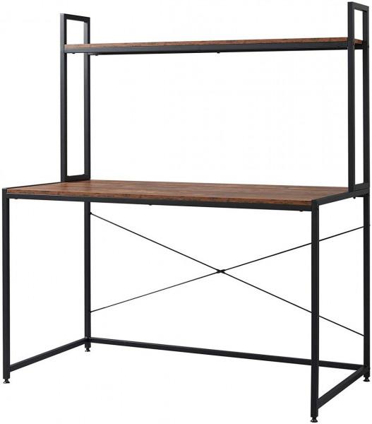 Schreibtisch mit Ablage in praktischem Design,schwarz vintage